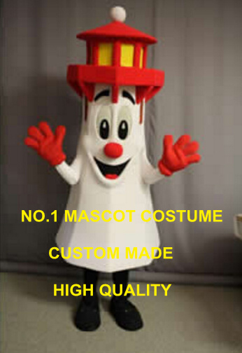 LIGHTHOUSE mascot costume hot sale cartoon white