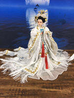 32cm Collectible Chinese Dolls Traditional Oriental BJD Doll With 12 Joints Movable Ancient Costume Girl Dolls Toys Gifts