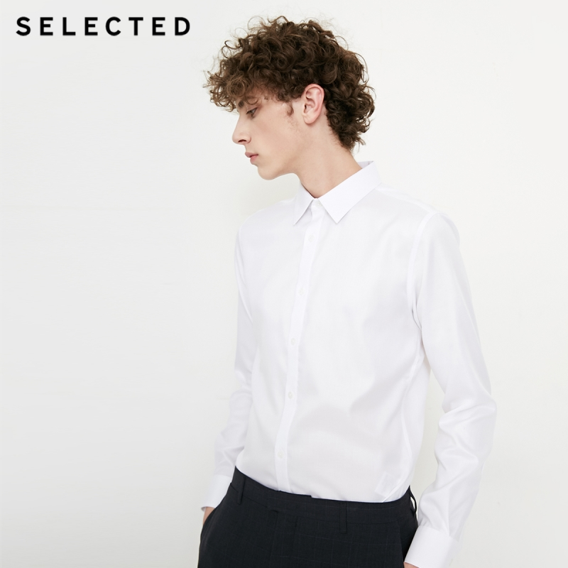 SELECTED cotton long sleeved shirt T 418205508