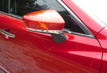 Free Shipping 2PCS Chromed Side Door Mirror Cover Protctor Molding Trim For Mazda 6 Atenza 2014