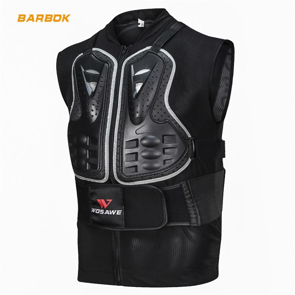 WOSAWE gilet de Protection sans manches pour Motocross soutien dorsal renfort de poitrine garde de Motocross Protection coupe-vent vestes de Protection