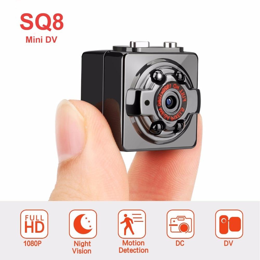 SQ8 Mini cámara Full HD 1080 p Micro Cámara de la visión nocturna IR DV Cámara Sensor de movimiento DVR videocámara Mini cámara SQ11 SQ12 versión antigua