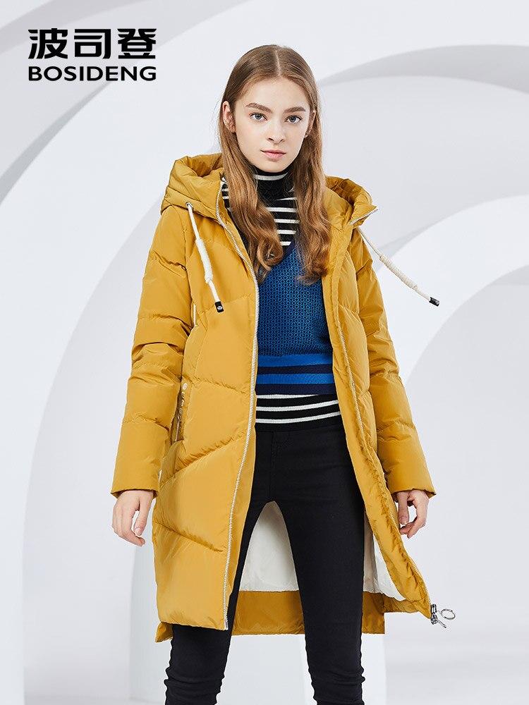 BOSIDENG зимняя куртка Новое пуховое пальто с капюшоном Длинная парка 90% утиный пух высокое качество водостойкий утолщенный свет B80141016
