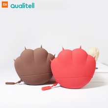 Xiaomi Mijia Qualitell Silicone Storage Bag Portable Coin Purse Waterproof Wallet Cute Cat Claw Design for Headphone Key Card