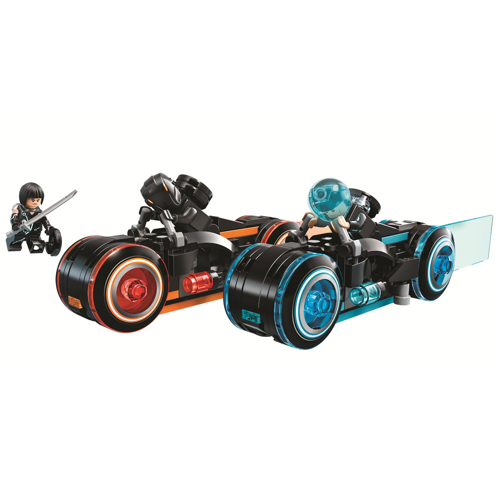 Bela 10881 Ideas TRON Legacy Light Cycles Racing Motor Bike Lightstream Building Blocks Toys Compatible With legoings 21314 disguise inc tron legacy identity disk