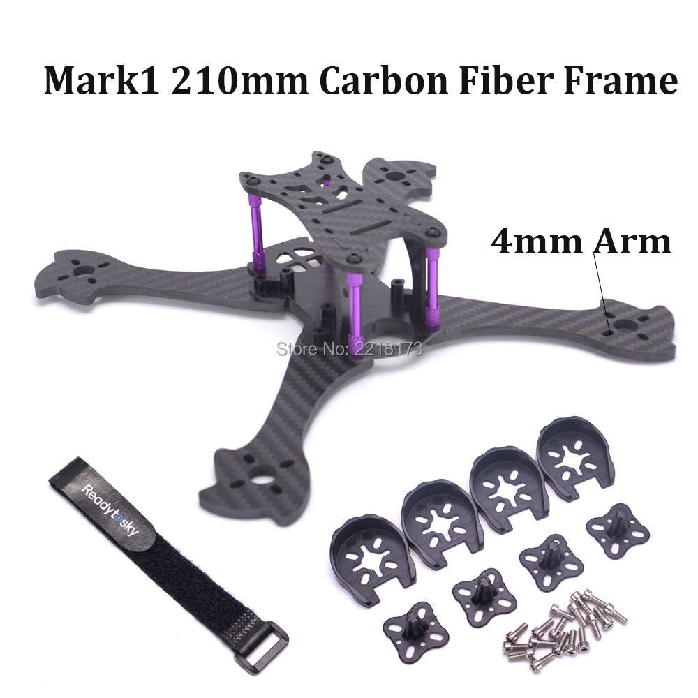 Mark1 210 210mm Pure Carbon Fiber mini X Quadcopter Frame Kit with 4mm Arm support 5045 Propeller RS2205 for FPV RC Racing Drone 1000pcs non insulated ring terminals rnbl 1 25 4