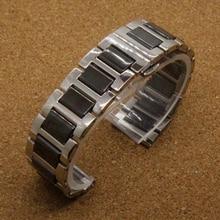 Alta calidad venda de reloj de plata negro correa de cerámica reloj de diamantes en General 20 mm relojes moda de accesorios nueva promoción