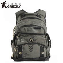 GRIZZLY Children SchoolBags Kids Backpacks for Boys In Primary School Mochila Orthopedic Waterproof School Backpacks Grade 1-6