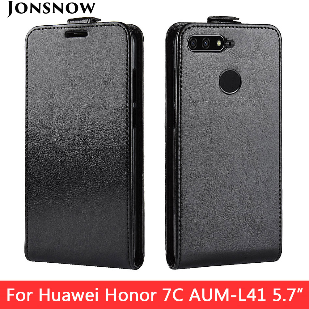 JONSNOW Protective Case for Huawei Honor 7X 5 93 inch PU Leather Phone Back Flip Cover for Huawei Honor 7C 5 7 inch 7C Pro in Flip Cases from Cellphones Telecommunications