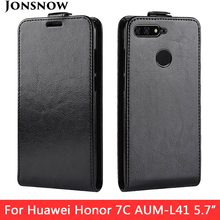 JONSNOW Protective Case for Huawei Honor 7X 5.93 inch PU Leather Phone Back Flip Cover 7C 5.7 inch/7C Pro