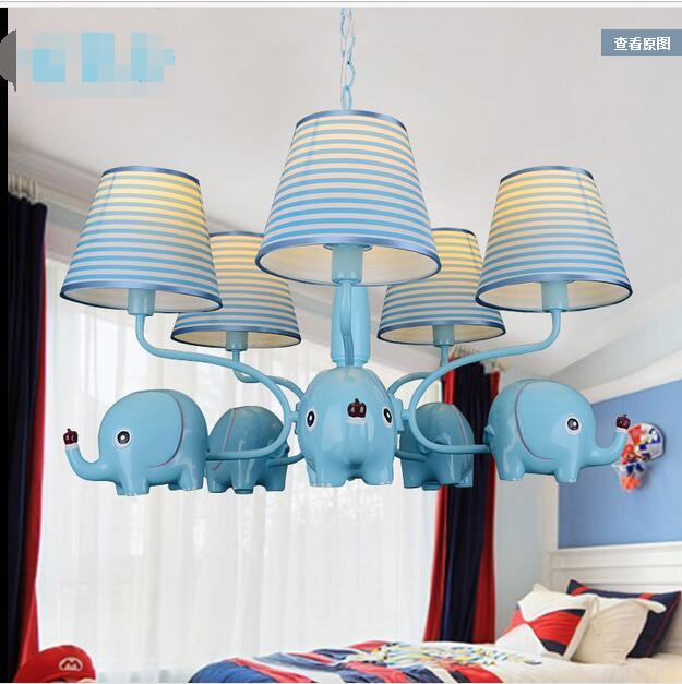 US $299.99 |European style Elephant 5heads Iron Chandelier cartoon  children\'s room lights men and girls bedroom lighting lamps ZA927656-in  Pendant ...