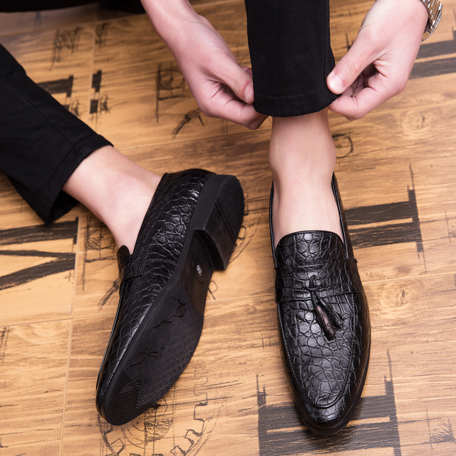 Men's Multicolor Leather Breathable Loafers
