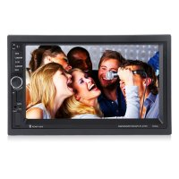 Car MP5 Player With Rearview Camera GPS Navigation 7 Inch Touch Screen Bluetooth Audio Stereo FM