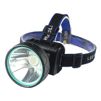 Free shipping LED dual light source blue outdoor night work light lithium battery charging zoom search camping fishing light