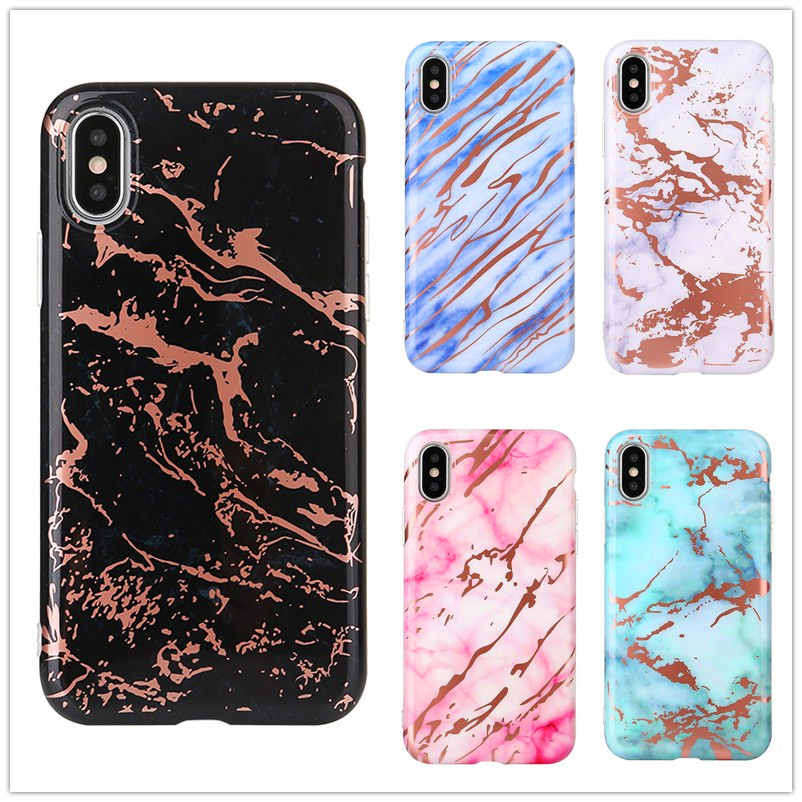 BROTOLA For iPhone 7 Case Silicone Luxury Marble Phone Cases For iPhone X 6 6s 8 Plus Fashion Soft TPU IMD Glossy Back Cover