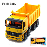 2019 Creative 1:64 Children Emulational Large Size Inertial Dump Truck Movable Car Toys Machinery Truck For Kids Gift With Box