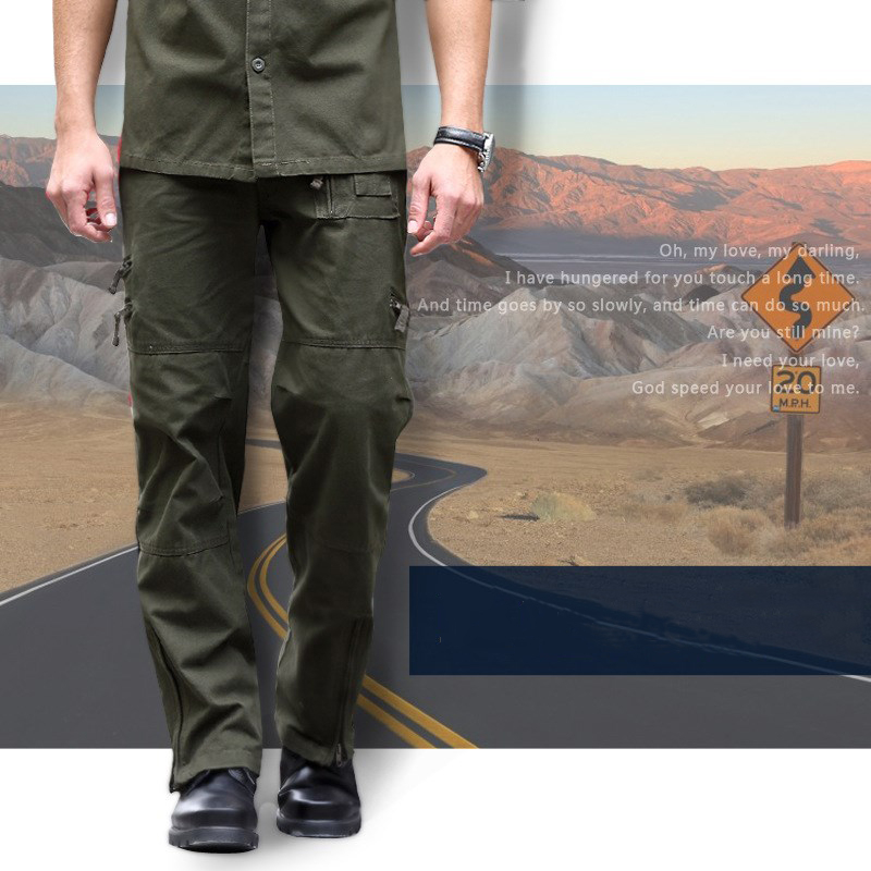 Military Army Uniform Combat Pants Male Casual Cotton Climbing Hunting Hiking Trousers Multi-Pocket Plus Size Tactical Pants Men