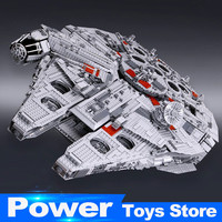 New Lepin 05033 Star 5265Pcs Ultimate Wars Collector S Millennium Model Falcon Building Kit Blocks Toy