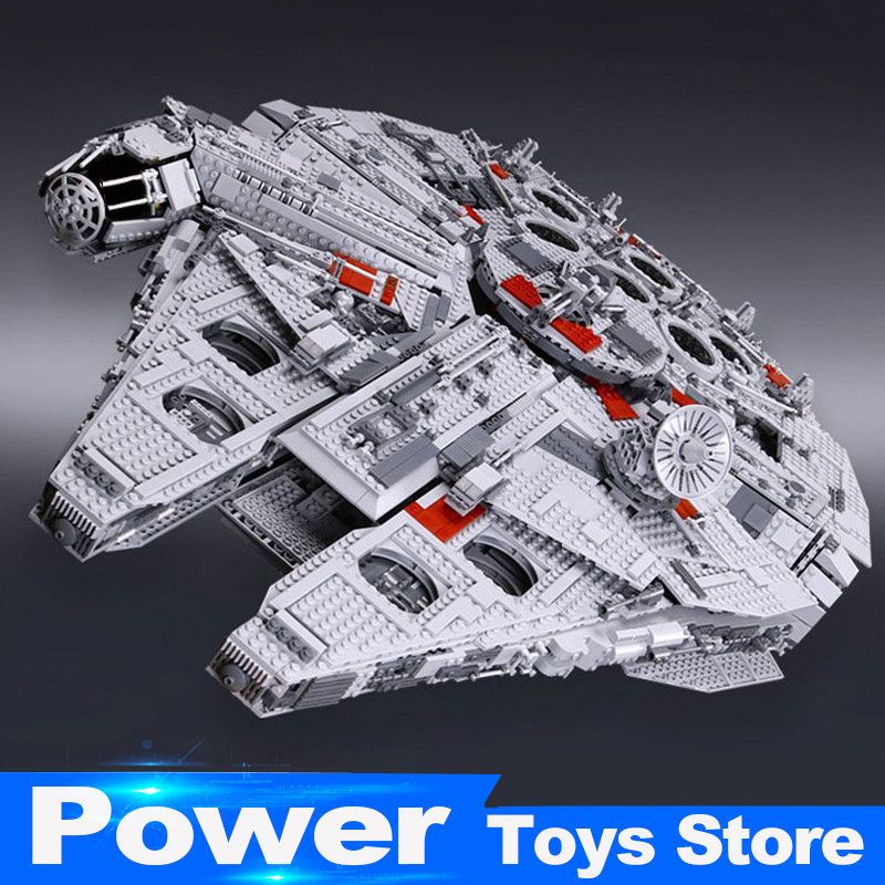 New Lepin 05033 Star 5265Pcs Ultimate Wars Collector's Millennium Model Falcon Building Kit Blocks Toy Compatible legoed 10179 банный комплект softline 05033