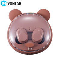 VONTAR EH10 TWS Brown Bear Touch Portable Earbuds Bluetooth 4.2 Wireless Headphones Charging Box Noise Cancel Headset Headsets