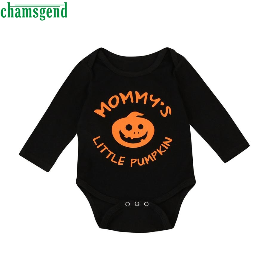 Triangle climb clothes Fashion Daily Infant Baby Boys Girls Halloween Pumpkin Animal O-Neck Long Sleeve Romper Jumpsuit P30