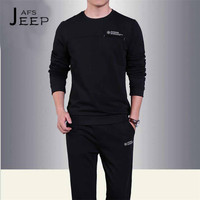 AFS JEEP Autumn Man S O Neck Full Sleeve Pullover Cotton Set Hoodies Original Brand Corriendo