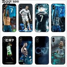 Cr7 cristiano ronaldo black Phone Cover Case for iPhone X 8 7 6 6S Plus 5 5S SE Soft TPU Silicone Phone Protective Back Skin(China)