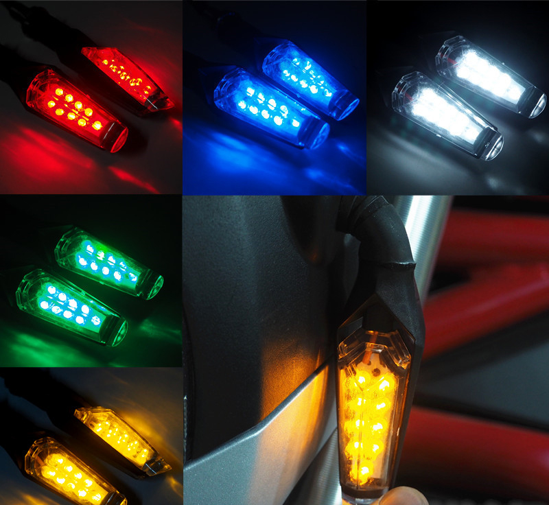 Motorcycle Turn Signal Light LED Flasher Indicator Lamp Universal For Honda Yamaha Suzuki Kawasaki Ducati Aprili Buell