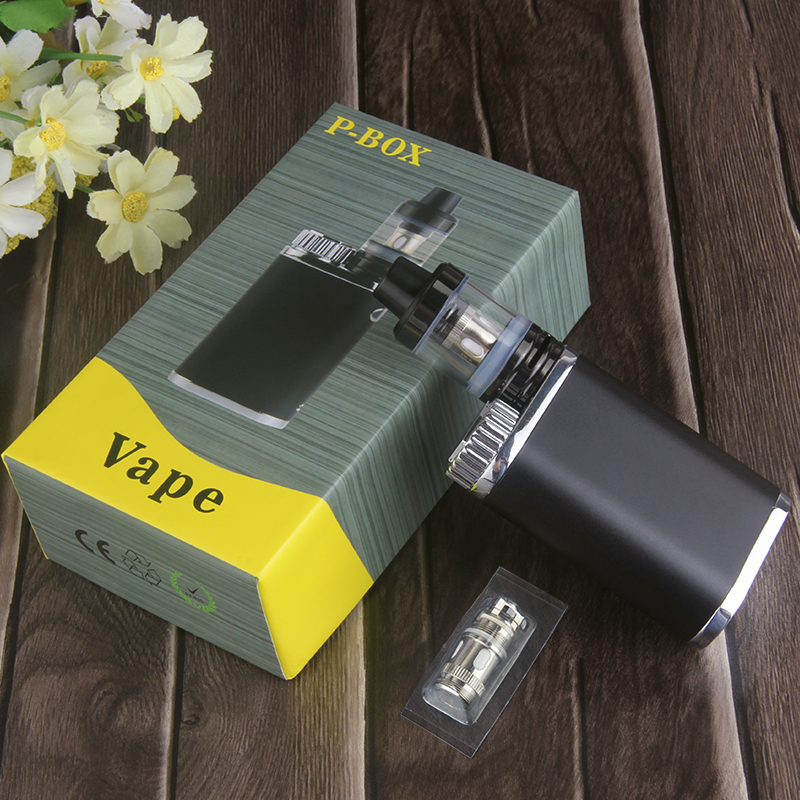 Kingfish P-BOX Kit Top filling 2ml Atomizer Subox Mini Vape Kit vaporizer Box Mod 50w Weipa Istick Pico Electronic Cigarette kit