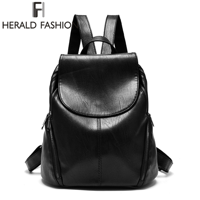Herald Fashion Backpacks for Teenage Girls Women's PU Leather ...