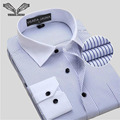 Business Men's Shirts 2016 New Arrival Men Shirt Long Sleeve Camisa Social Masculina Cotton Brand Clothing Plus Size 8XL N759