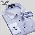 Camisas dos homens de negócios 2016 homens novos da chegada prevista camisa de manga comprida camisa social masculina algodão marca clothing plus size 8xl n759