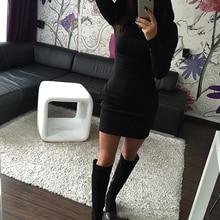 Hot Sale Sexy Women Sweatdress Autumn&Winter Hooded Dress Bodycon Slim Long Sleeve Dress Basic Chic Stylish Streetwears S-XXL