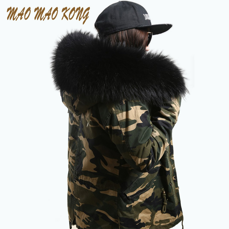 New women parka big raccoon fur hood winter jacket natural real fox fur coat for women thick soft lining abrigos de piel mujer 2017 winter new clothes to overcome the coat of women in the long reed rabbit hair fur fur coat fox raccoon fur collar
