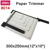 [ReadStar]Deli 8014 Manual paper trimmer size 300x250mm(12x10) large paper trimmer with scaler Paper cutter