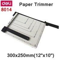 Deli 8014 manual tamanho do aparador de papel 300x250mm(12