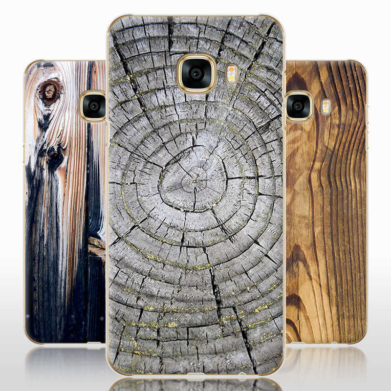 For Samsung Galaxy C7 C7000 case,Purecolor Brand Stone & wood grain painted Hard PC shell back cover case for samsung C7 C7000