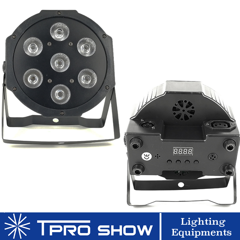 LED Par Dmx RGBWA UV Sound Party Lights LED Wash 7x18W Slim DJ Lights For Disco DJ Club Colors Change For Home Party Soundlights