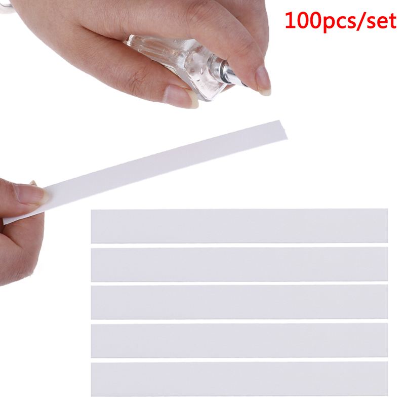 100pcs 130x15mm Aromatherapy Fragrance Perfume Essential Oils Test Tester Paper Strips Testing Strip