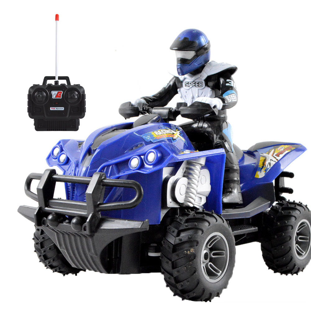 Simulated Driving Model Boys Wear Resistant Anti Collision Children High Speed Fun Gift <font><b>RC</b></font> <font><b>Motorcycle</b></font> Quad Bike Electric Toy image