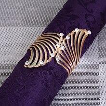 50PCS metal alloy napkin buckle innovative modeling ring European wedding table decoration