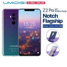 """UMIDIGI Z2 Pro العالمي العصابات 19:9 6.2 """"6GB + 128GB هيليو P60 ثماني النواة 2.0GHz اللاسلكية تهمة أندرويد 8.1 الوجه فتح الهاتف المحمول NFC"""