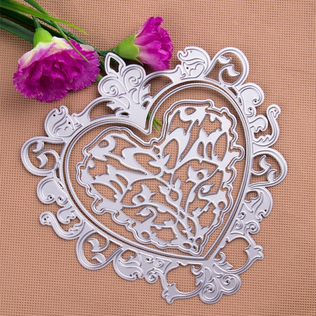 DIY Heart-Shaped Design Cutting Dies Stencils Embossing Card for Scrapbooking Card album Decorative Metal Crafts