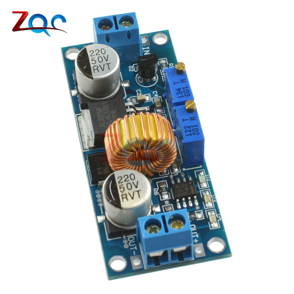 Cc Cv 5a Lithium Charger Board Xl4015 Adjustable 6 38v To 125 36v 4v Pcb Circuit Battery Protection Croons 74v 18650 Dc Step Down Power Supply Buck Module In Voltage Regulators Stabilizers From Home