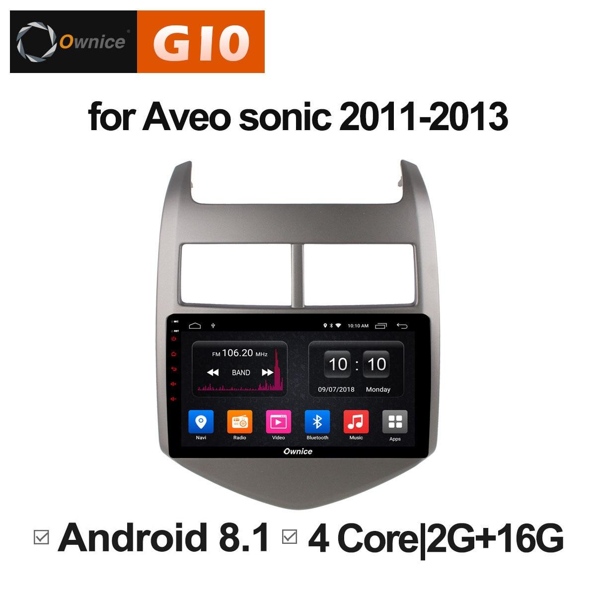 Android 8.1 lecteur multimédia de Radio DVD de voiture d'unité pour CHEVROLET AVEO SONIC 2011 2012 2013 Auto audio stéréo gps navigateur DVR PC