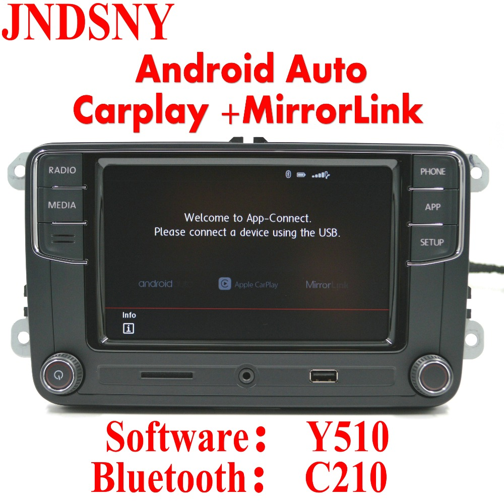 "Jndsny Android Auto CarPlay приложение r340g rcd330 rcd330g плюс 6.5 ""MIB автомобиля Радио для Гольф 5 6 Jetta CC tiguan Passat Мужские поло"