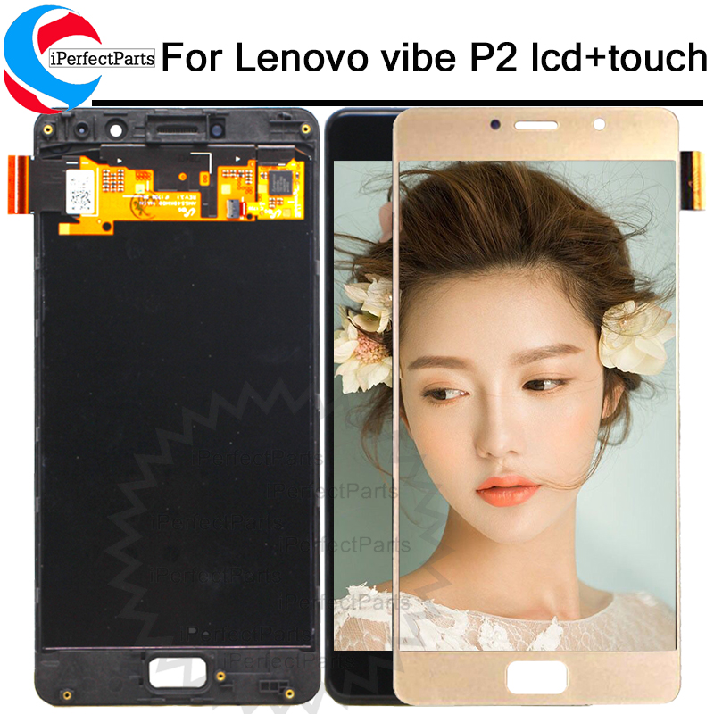 Lenovo Vibe P2 LCD Display Touch Screen digitizer Assembly With Frame 5 5 For Lenovo P2