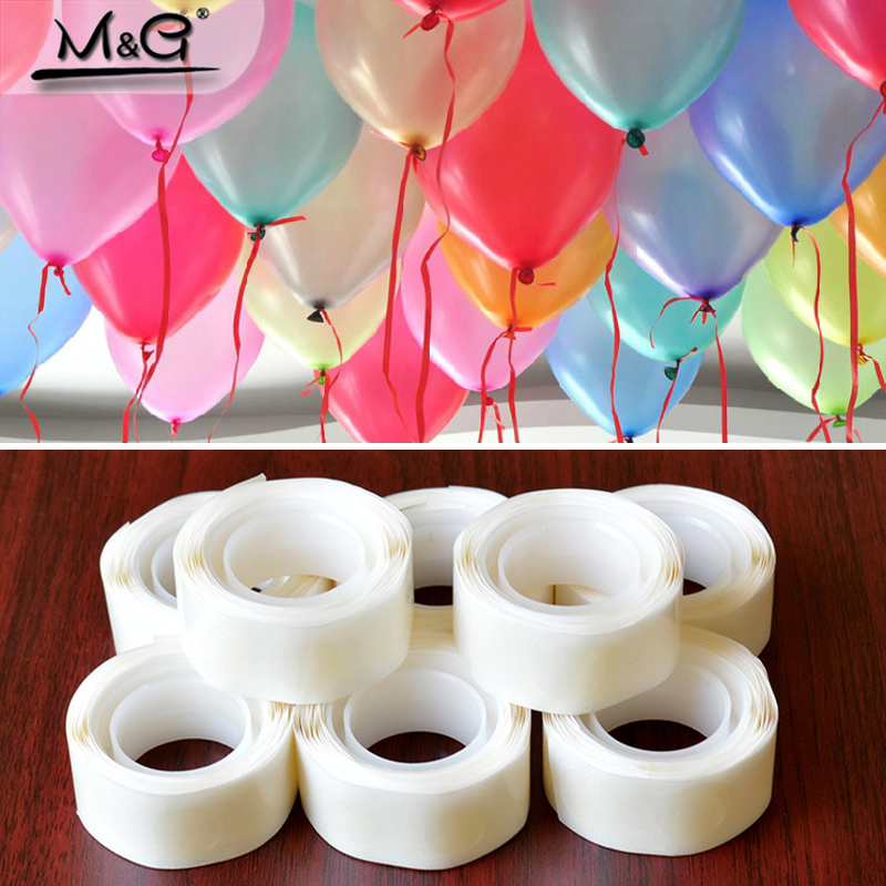 <font><b>100Pcs</b></font> Balloons Glue Point <font><b>Foil</b></font> Latex Balloon Fix Gum Air Balls Inflatable Toys Wedding Party Birthday Decoration image