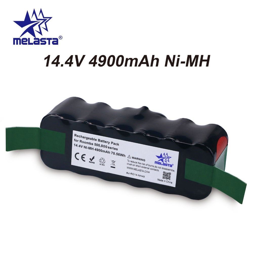 цена на Updated Capacity 4.9Ah 14.4V NIMH battery for iRobot Roomba 500 600 700 800 Series 510 530 550 560 620 650 770 780 870 880 R3