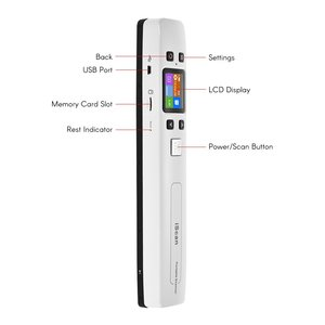 Image 2 - Iscan02 Draagbare Handheld Digitale Draadloze Wifi 1050 Dpi Lcd Office Scanner Document Foto Jpg Pdf Ontvangsten A4 Mini Handige Scanner